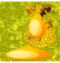 Abstract honey vector