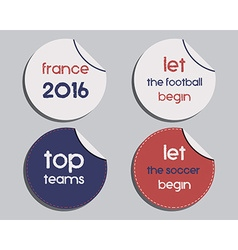 Set of unusual brand identity - france 2016 vector