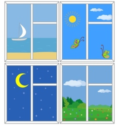 Windows with views vector