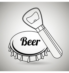 Fresh beer design vector
