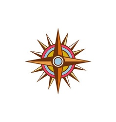 Vintage compass star isolated retro vector