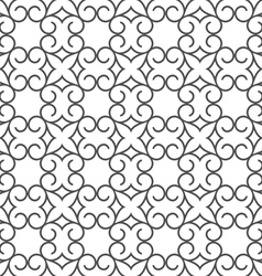 Delicate abstract seamless stylized flower pattern vector