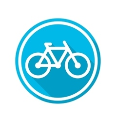 Icon blue bicycle vector
