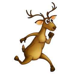 A deer running vector
