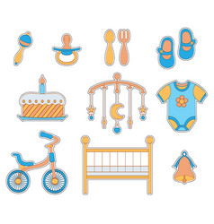 Baby boy icon vector