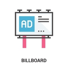 Billboard icon concept vector