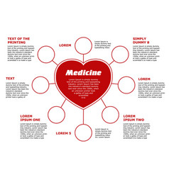 blank horizontal template medical subjects red vector image