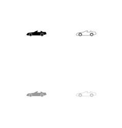 car black and grey set icon vector image vector image