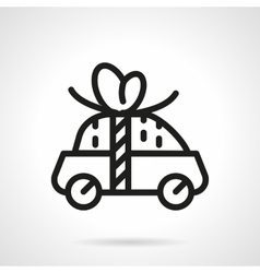 Car for free icon black line design vector image