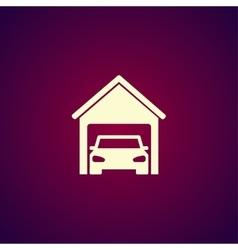 car garage Flat design style vector image