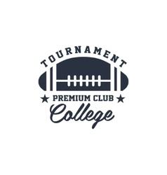 Classic sport label college tournament vector