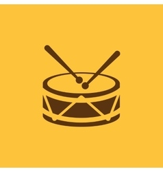 Drum icon design Music and toy Drum symbol web vector image