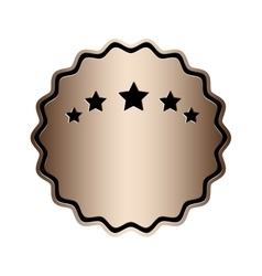 Emblem or label icon image vector