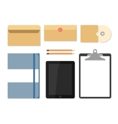 Flat mockups for website design vector image vector image