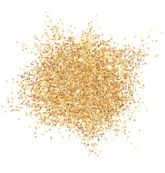 glowing gold glitter vector image vector image