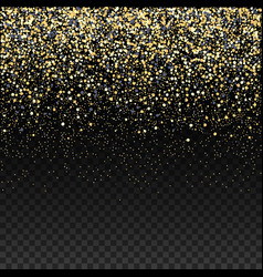 gold glitter falling confetti on a dark checkered vector image vector image
