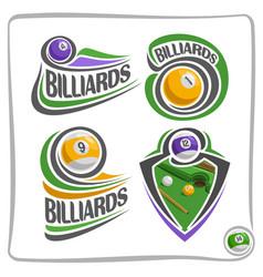 Logo billiards ball vector