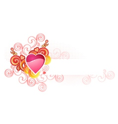 love heart with space for your text valentine and vector image vector image