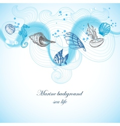 Marine background vector image vector image