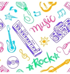 Musical instruments flat icons and elements set vector