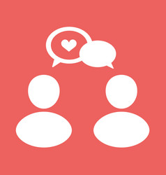 people talk icon vector image vector image