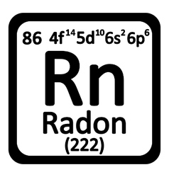 Periodic table element radon icon vector image