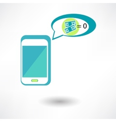 Phone and money on white background done in 3d vector