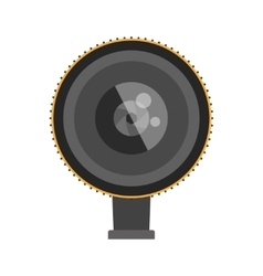 Photo optic lens vector image