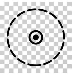 Round area icon vector