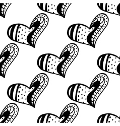 Seamless pattern with the hand drawn ink doodle vector image vector image