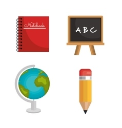 set education elements graphic isolated vector image vector image