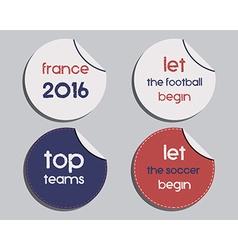 Set of unusual brand identity - France 2016 vector image