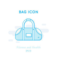 Sports bag icon isolated on white vector