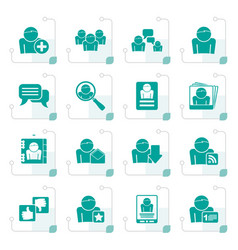 stylized social media and network icons vector image