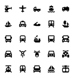 Transportation icons 1 vector