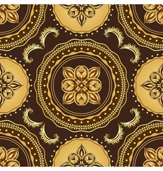 Golden and brown seamless pattern vector image