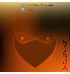 ninja light face vector image