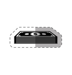 dollar money stack icon vector image