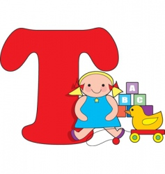 t is for toys vector image