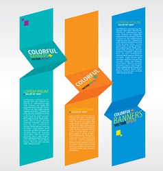 Colorful vertical banners EPS10 vector image