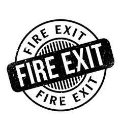 Fire exit rubber stamp vector