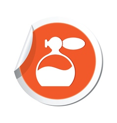 Perfume icon orange sticker vector