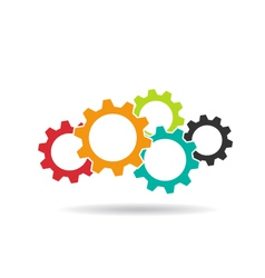Gears logo Concept of Teamwork vector image
