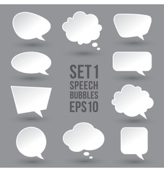 White speech bubbles set vector image