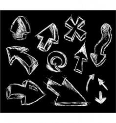 3d style sketch arrows vector image