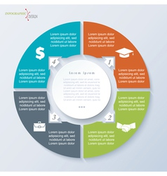 Circle template infographic vector