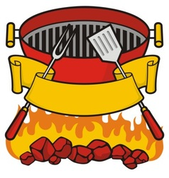 Barbeque grill vector