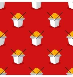 Bright wok box chineese seamless pattern vector
