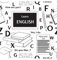 Learn english concept pattern vector