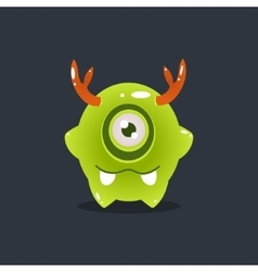Green Alien With Antlers vector image